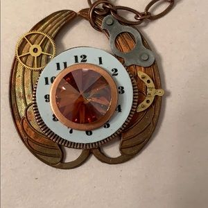 Steam punk copper necklace